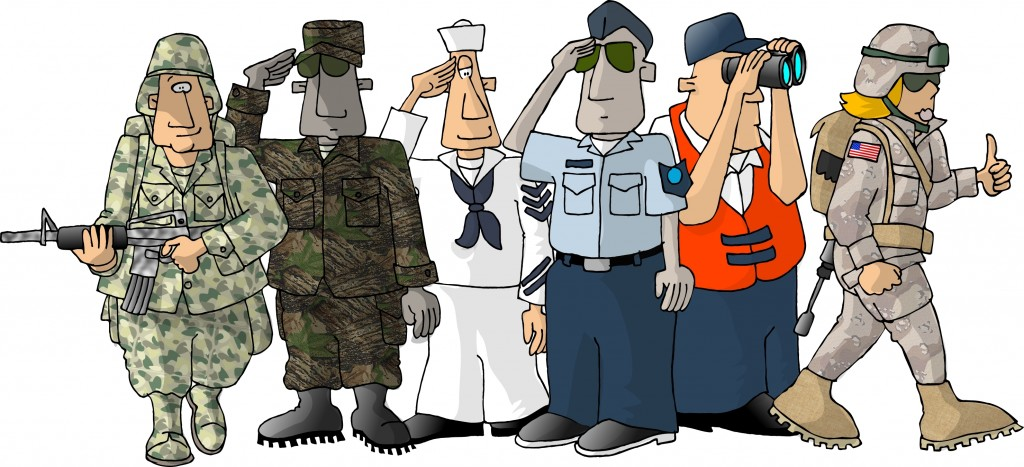 All Military Branches Cartoon