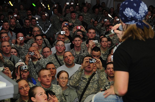 comedian performing to U.S. Troops in Iraq