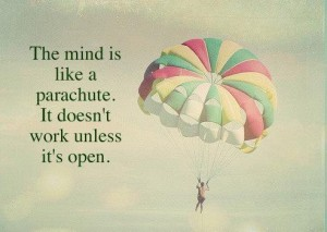 the mind is a parachute